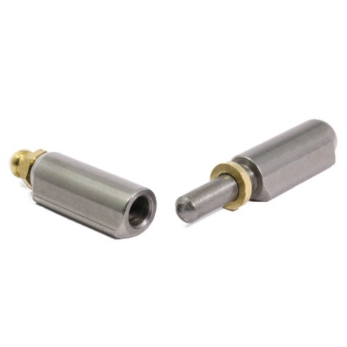 Image of weld on bullet hinge with grease nipple pin