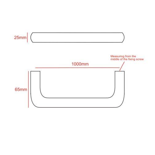 1000mm D handle