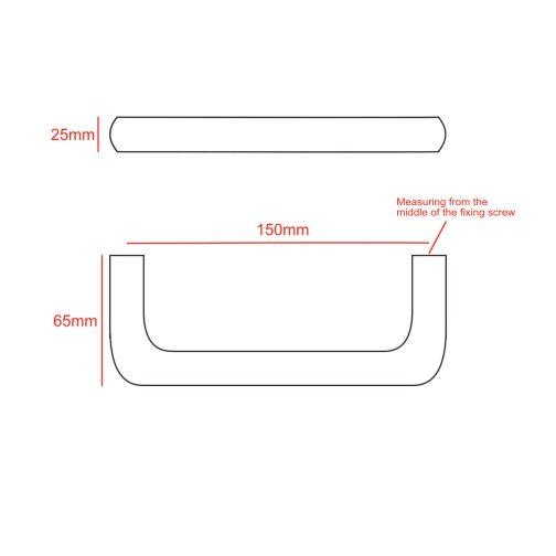 150mm D handle
