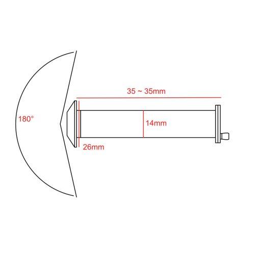180 degree door viewer CAD