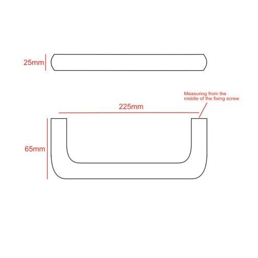 225mm D handle
