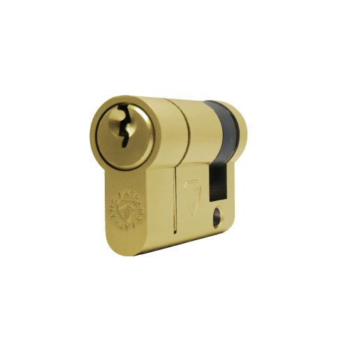 Half brass cylinder diagonal view
