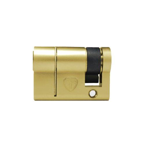 Half brass cylinder side view