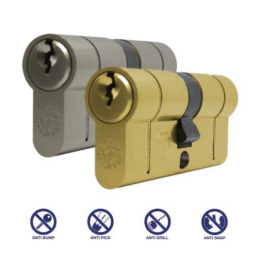 satin nickel and brass euro cylinder
