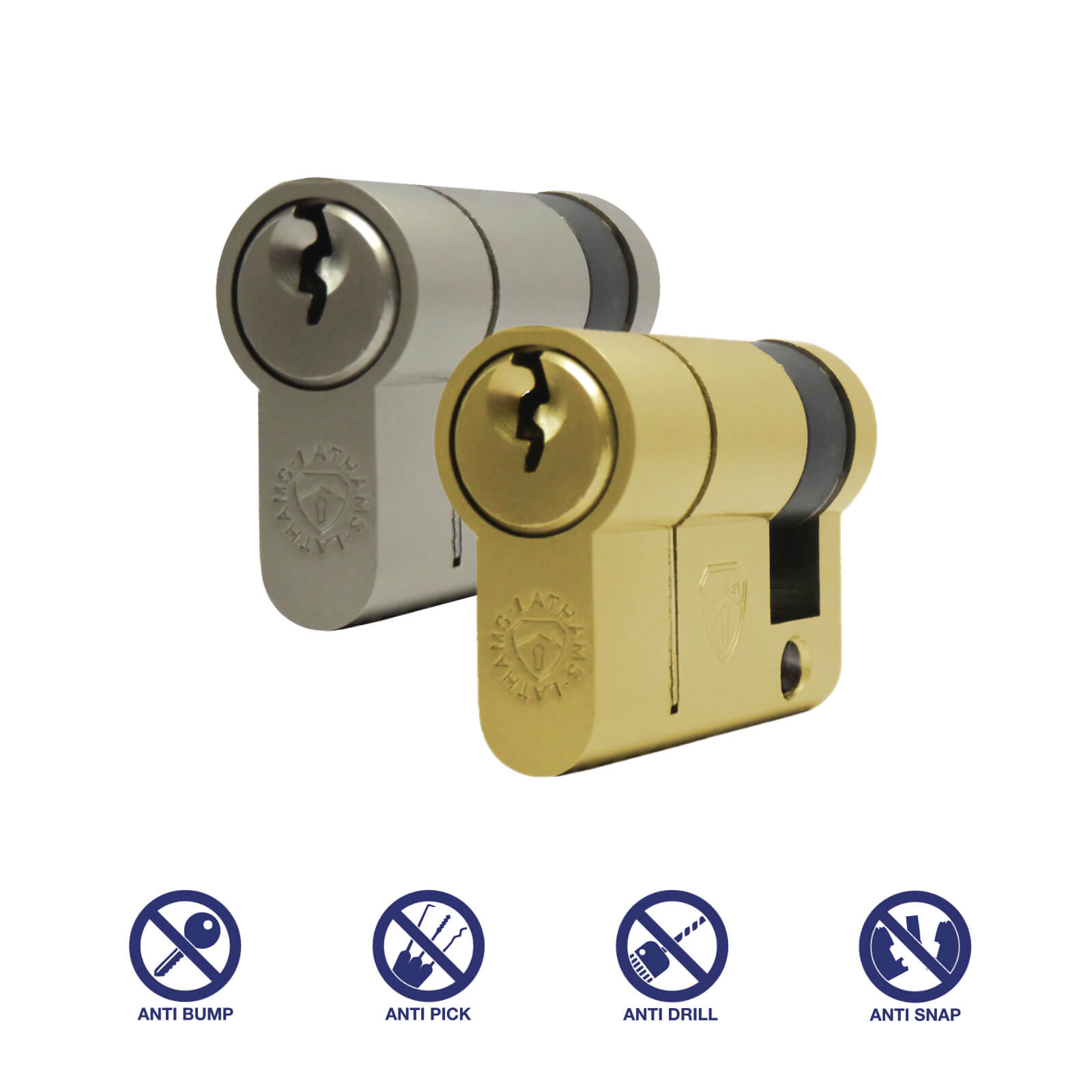 Half Euro Cylinder Anti Snap Lock