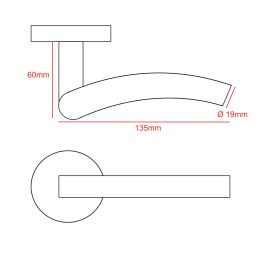 Stainless Steel #304 Inward Curve Door Handle