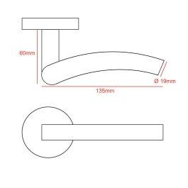 Stainless Steel #304 Inward Curve Door Handle