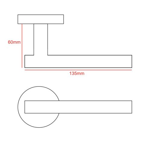 t bar lever handle cad drawing