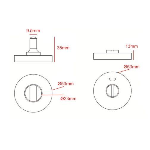 toilet lock CAD
