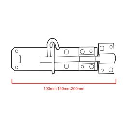 Medium Brenton Padlock Bolts