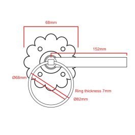 Plain Ring Handle Gate Latch
