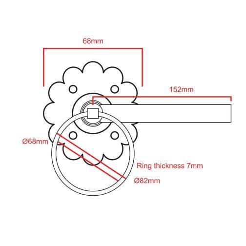 plain ring latch CAD