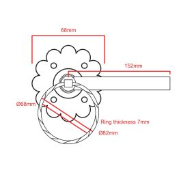 Twisted Ring Handle Gate Latch