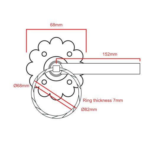 twsited ring latch CAD