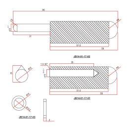 120mm (6 inch) Aluminium Weld on Hinge