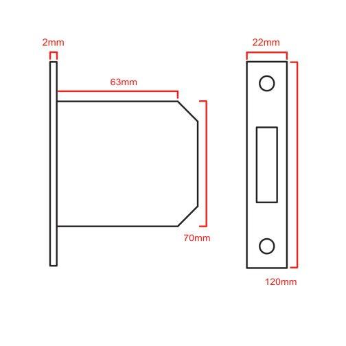 3 Lever Deadlock 5012 CAD