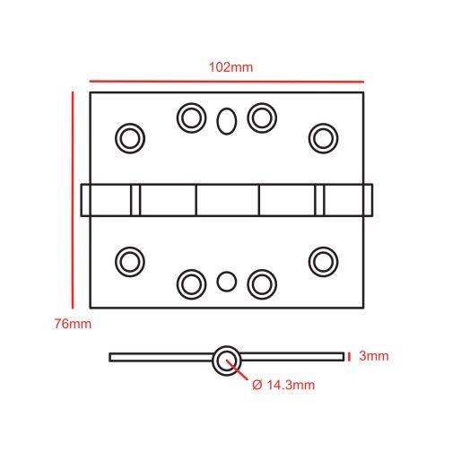 4x2 Hinge CAD