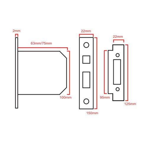 3 lever sashlock 5010 CAD
