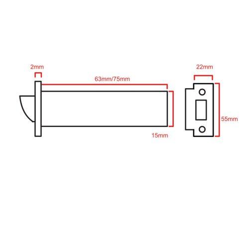Tubular Latch CAD 5005