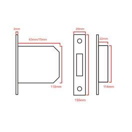 Cylinder Mortice Sashlock (Euro Profile)