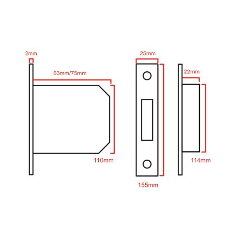 Euro cylinder sashlock 5013 CAD