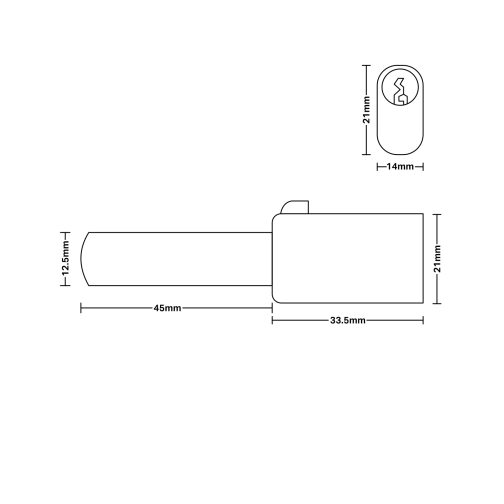 Oval Bullet Lock cad