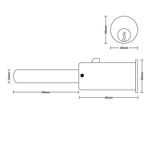 Round shutter lock cad