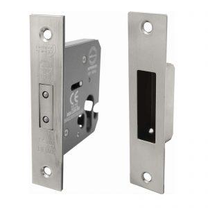 Nickel mortice lock example