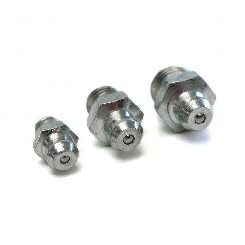 Three mild steel nipples